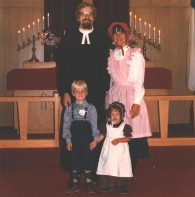 Pioneer days in town and in church. Yes, I'm the tiny one.